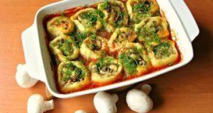 Картофель с грибами (постное горячее блюдо)