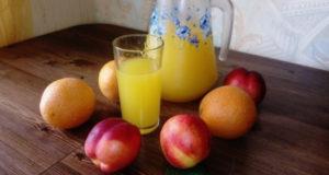 Компот без варки апельсиново-персиковый