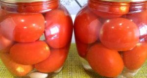 Маринованные помидоры на зиму / очень простой рецепт