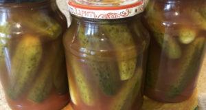Огурцы маринованные на зиму в кетчупе
