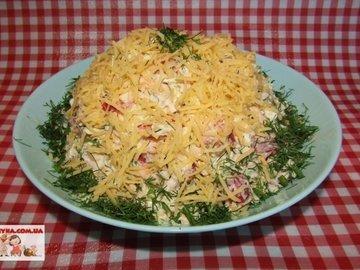 Салат с пекинской капустой помидорами и сыром ⋆ Рецепт приготовления ⋆