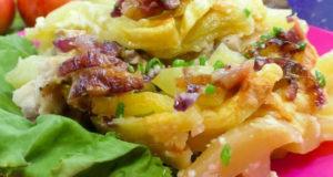 Картофель с курицей в микроволновке