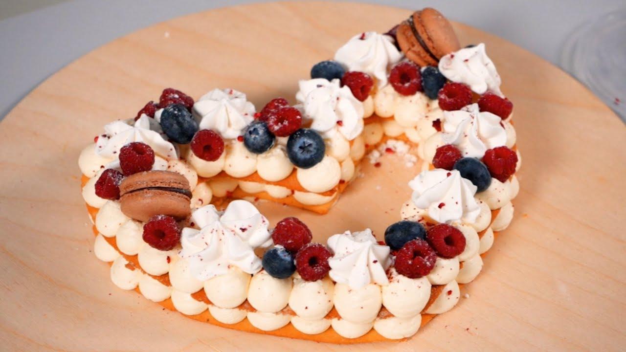 Торт Цифра или Сердце