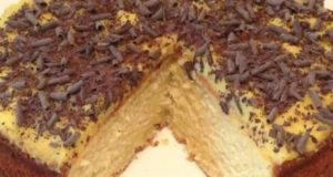 Творожный пирог с апельсиновым курдом