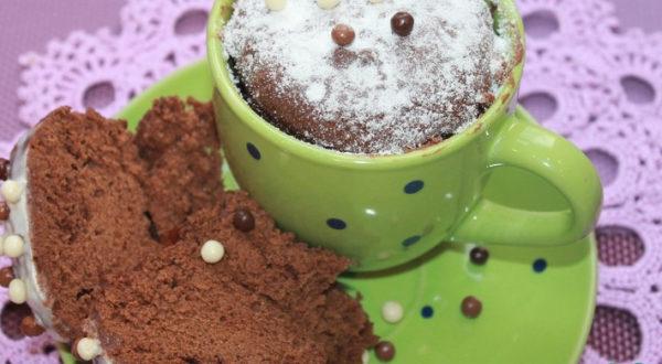 "Кекс в чашке ""Шоколадное лакомство"""