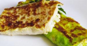 Трубочки из лаваша с сыром, зеленью