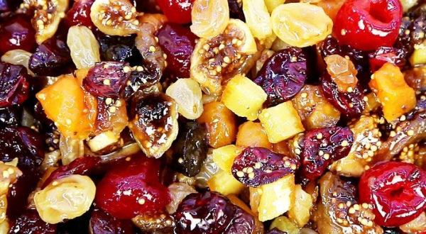 Сухофрукты в сиропе для выпечки
