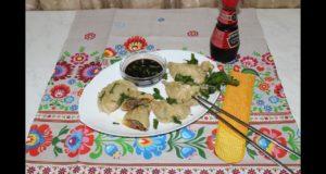 Пельмени по-корейски на сковороде