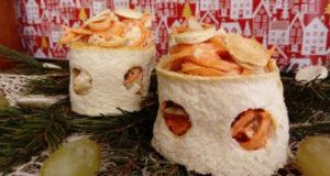 Салат в хлебных кольцах
