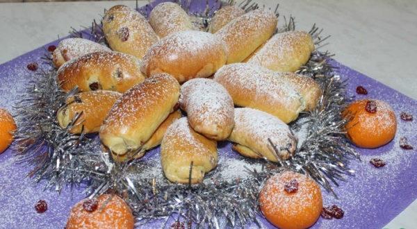 Новогодние мандариновые булочки
