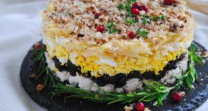 Праздничный салат с черносливом