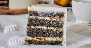 Бисквитный Кунжутный торт
