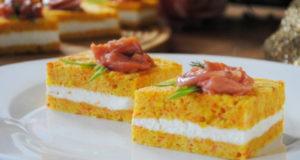 Закусочное Пирожное с Красной Рыбой на Праздничный Стол