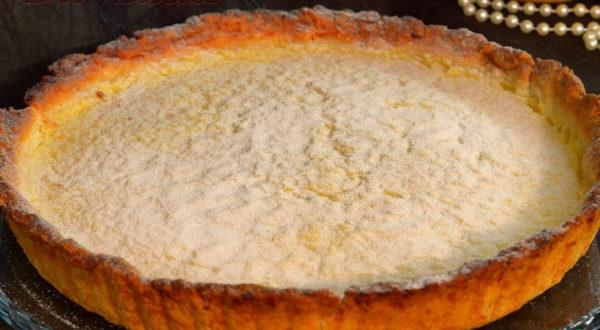 Лимонный пирог песочный с лимонным курдом