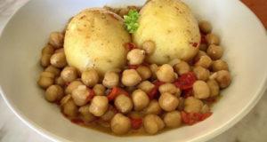 Постное блюдо из картофеля и нута