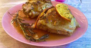 Курица запеченная в апельсиново-медовом маринаде
