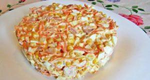 Салат с копченой курицей и морковью по-корейски