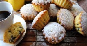 Лимонные кексы на кефире