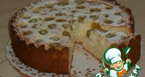 Творожный пирог с виноградом