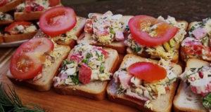 Холодная закуска Салат на хлебе