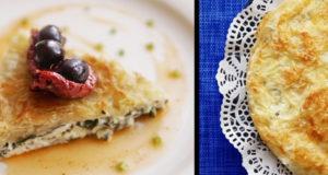 Греческий пирог с сыром Фета и шпинатом