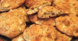 Печенье творожно-овсяное с яблоками и цукатами