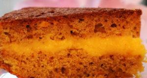 Пирог апельсиново-миндальный в апельсиновым заварным кремом