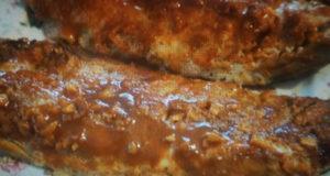 Запеченная скумбрия с чесноком и паприкой