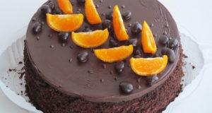 Постный шоколадно-малиновый торт