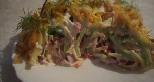 Куриный салат с сыром Муравейник