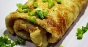 Яичный ролл с ветчиной и сыром