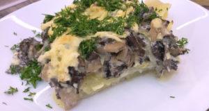 Запеченная картошка с грибами (строчки и сморчки)