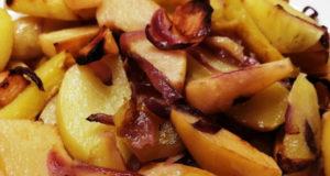 Картофель с айвой в духовке