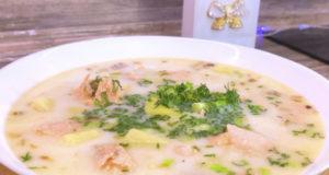Сливочный суп из форели