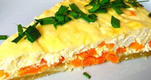 Морковный пирог с творогом