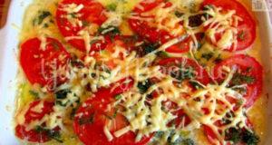Запеканка из курицы с кабачками и помидорами