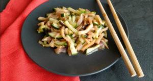 Китайский салат с грибами