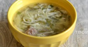 Суп с лапшой в мультиварке