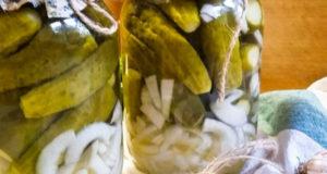 Вкусные маринованные огурчики с луком