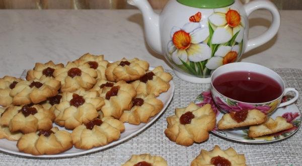 Песочное печенье курабье Бакинское