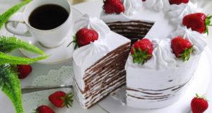 Торт шоколадная Молочная девочка