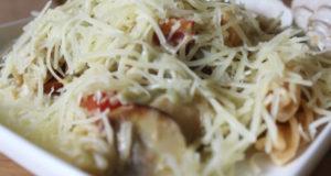 Фузилли с грибами в сливочном соусе
