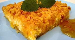 Тёртый пирог с творогом и апельсином