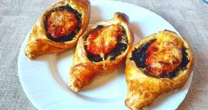 Пирожки-лодочки с мясом и картошкой