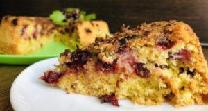Пирог Кокосово-смородиновый