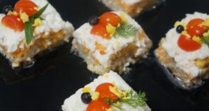 Салат-закуска слоеный Кубик