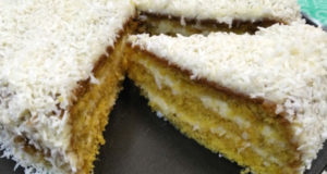 Торт кукурузный с кокосом