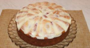 Творожно-сливочный кекс с нектаринами