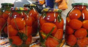Маринованные помидоры с сельдереем