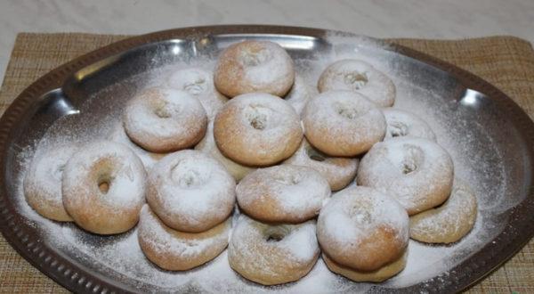 Творожные пончики в духовке